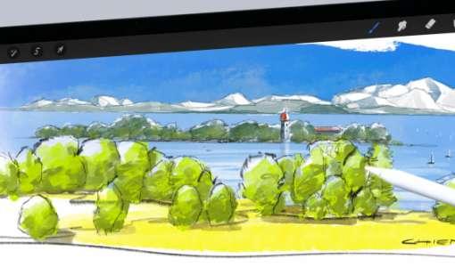 Mountain Sketching mit dem iPad & Procreate