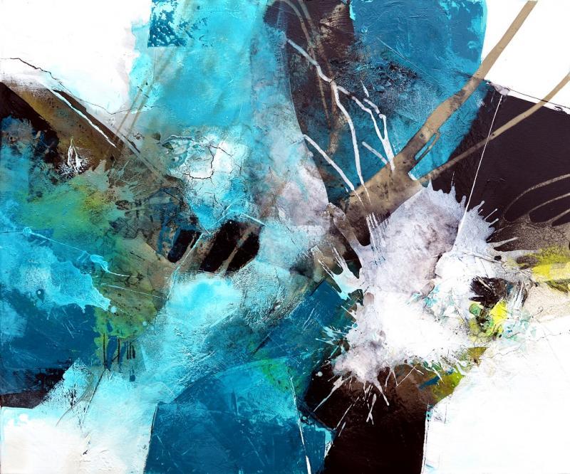 Kunstwoche mit Tom Kree: Gleichzeitig mit Acryl- UND Ölfarben arbeiten ! Geht nicht, gibt's nicht!